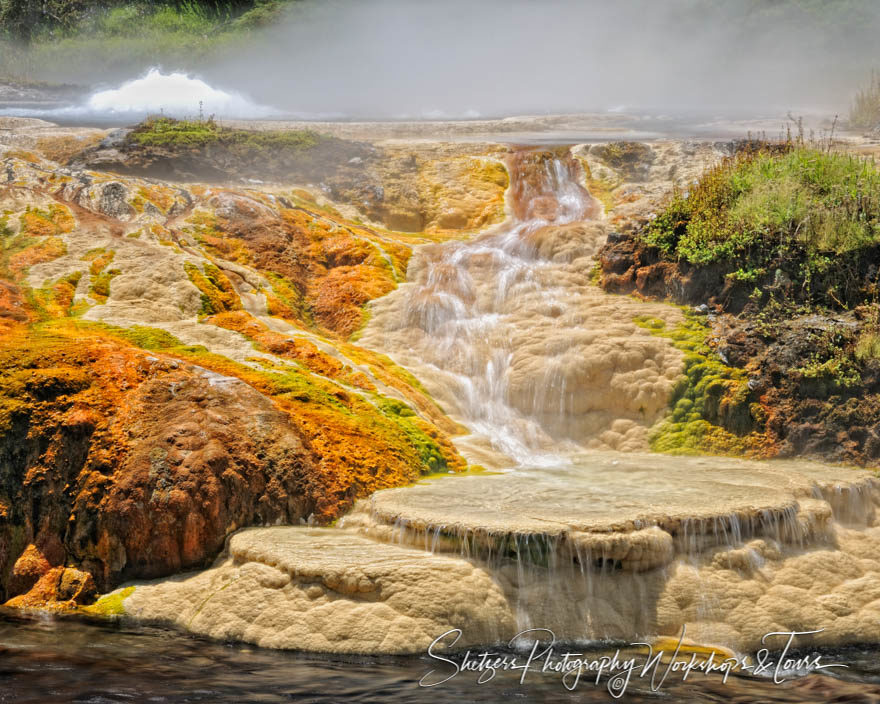 Cascading Hot Springs of Yellowstone