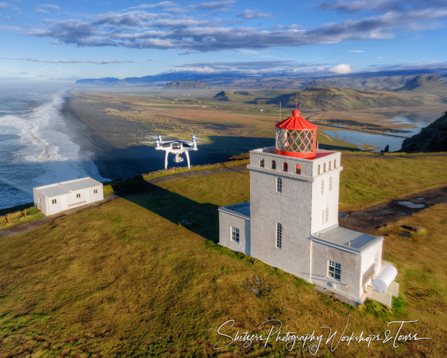 Dyrhólaey Lighthouse Photo With Drone
