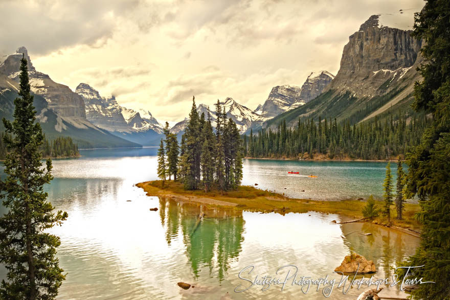 Sprit Island in Jasper National Park Canada
