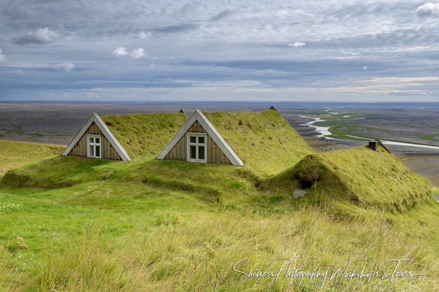 Turf Roofed Farmhouse in Iceland