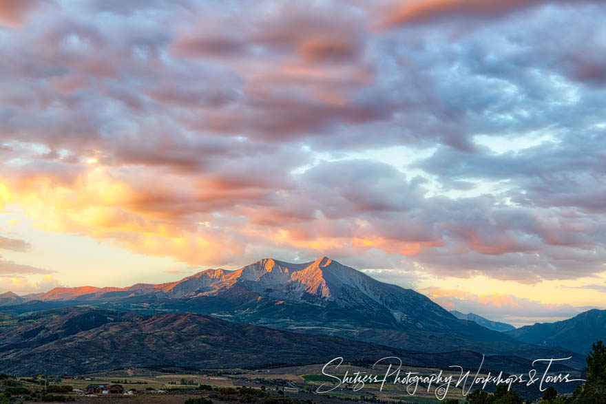 Mount Sopris in the sunset