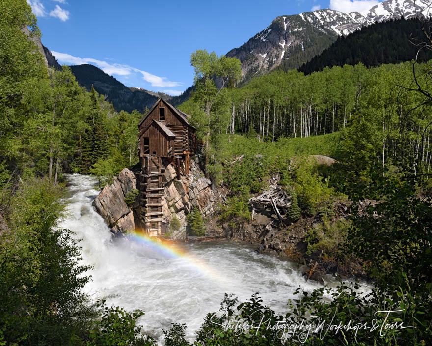 Rainbow at Crystal Mill in Colorado